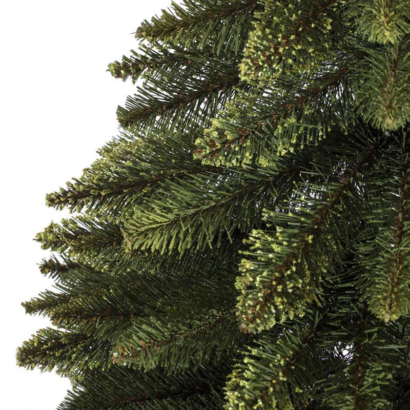 Künstlicher Tannenbaum Im Topf.Künstlicher Weihnachtsbaum Im Topf Fichte Naturstamm Grün
