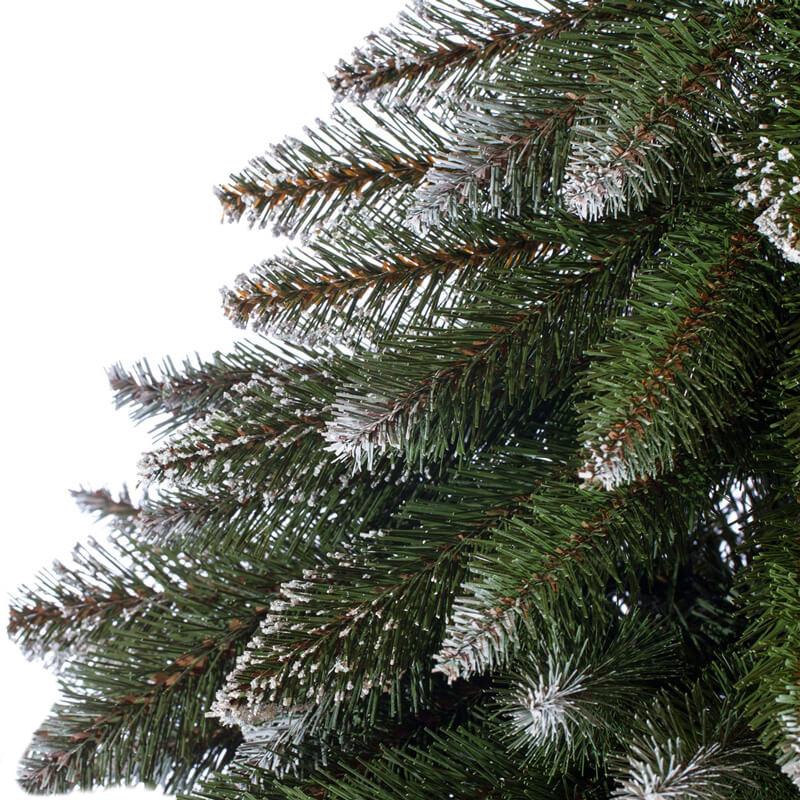 Künstlicher Weihnachtsbaum im Topf Fichte Naturstamm Weiß beschneit