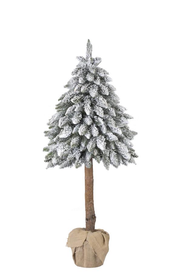 k nstlicher weihnachtsbaum im topf fichte naturstamm mit. Black Bedroom Furniture Sets. Home Design Ideas