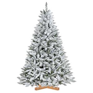 Künstlicher Weihnachtsbaum Fichte Natur-Weiß mit Schneeflocken