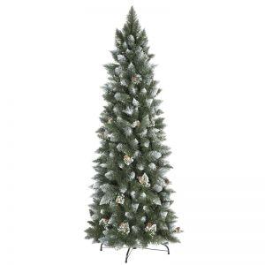 Künstlicher Weihnachtsbaum Kiefer Natur-Weiß beschneit Slim