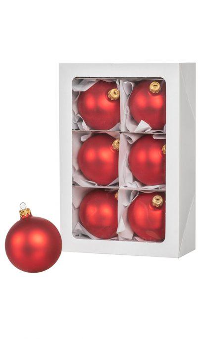 Große Rote Christbaumkugeln.6 Rote Weihnachtskugeln 8 Cm Künstliche Weihnachtsbäume Und