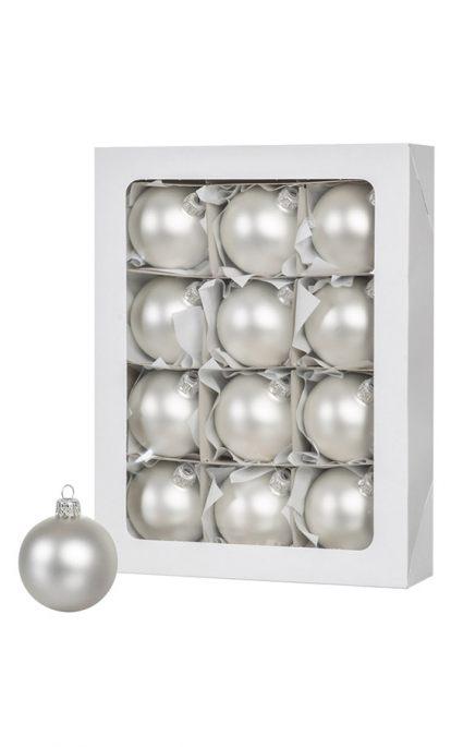 Silberne Weihnachtskugeln.Silberne Weihnachtskugeln 12 Stck 6cm Fairytrees