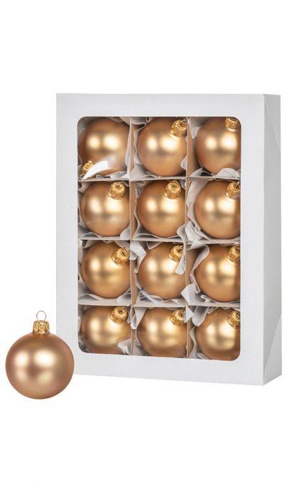Goldene Weihnachtskugeln.12 Goldene Weihnachtskugeln 6cm Künstliche Weihnachtsbäume Und