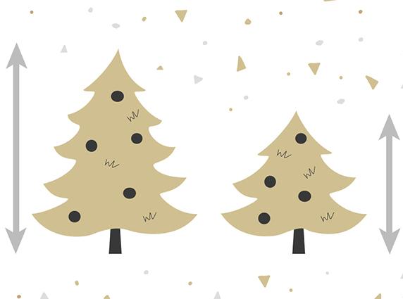 Wie groß sind die künstlichen Weihnachtsbäume von FairyTrees?
