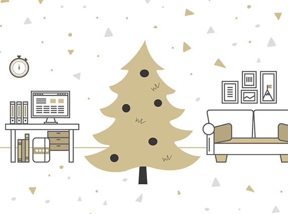 Wie kann man den Weihnachtsbaum an seine Raumverhältnisse anpassen?