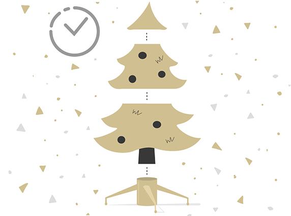 Wie lange dauert der Aufbau eines künstlichen Weihnachtsbaumes?