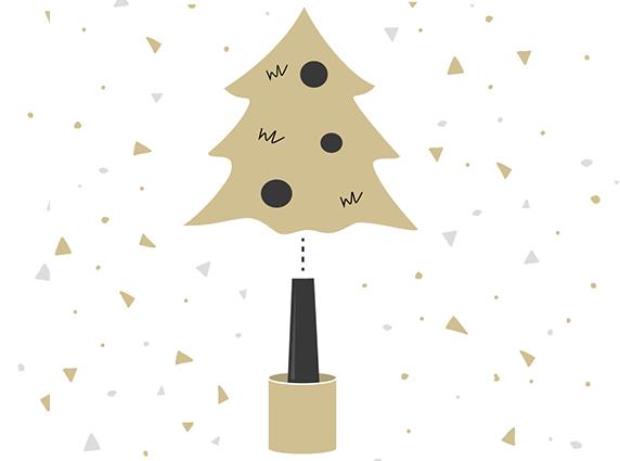 Wie montiere ich den künstlichen Weihnachtsbaum mit Naturstamm?