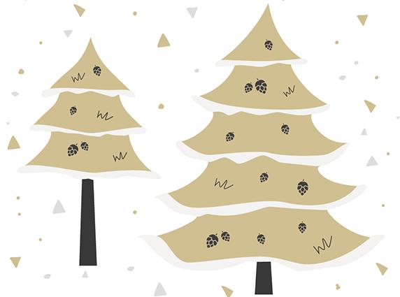 Wie werden die künstlichen Weihnachtsbäume dekoriert?