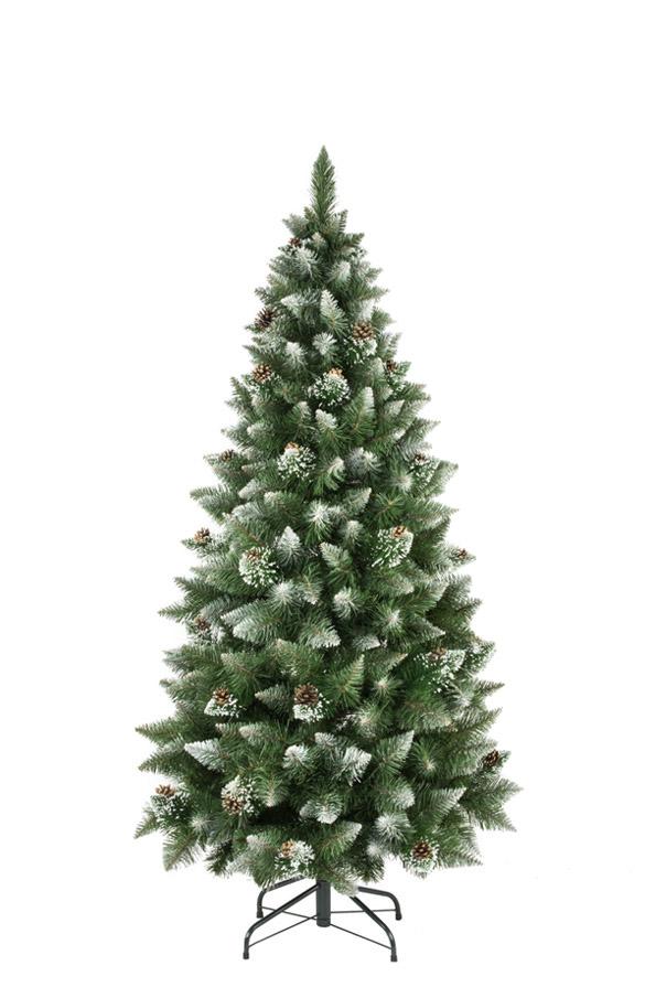 Árbol de Navidad artificial Pino Natural blanco nevado slim - FairyTrees