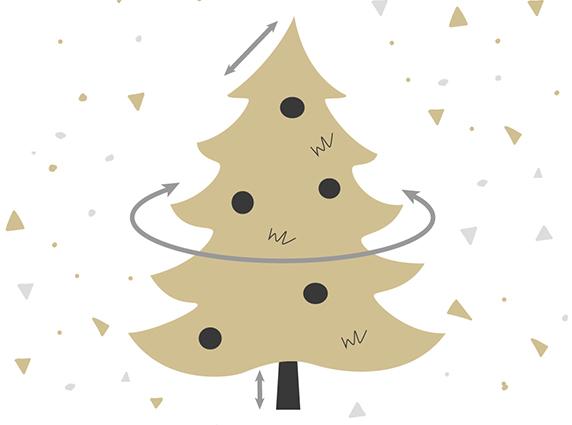 Welche Maße hat unser künstlicher Weihnachtsbaum? Wie lang ist die Spitze?