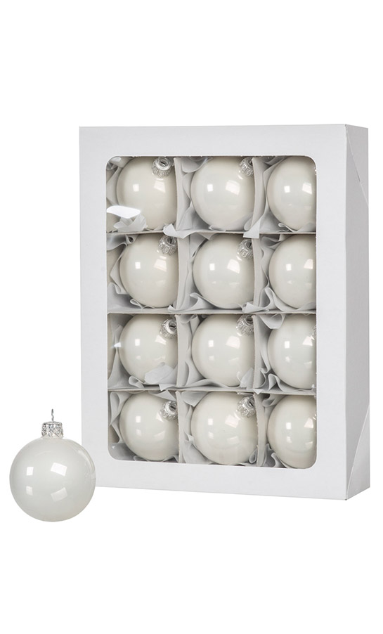 Weiß Christbaumkugeln Kunststoff.12 Weiße Weihnachtskugeln 6cm Künstliche Weihnachtsbäume Und