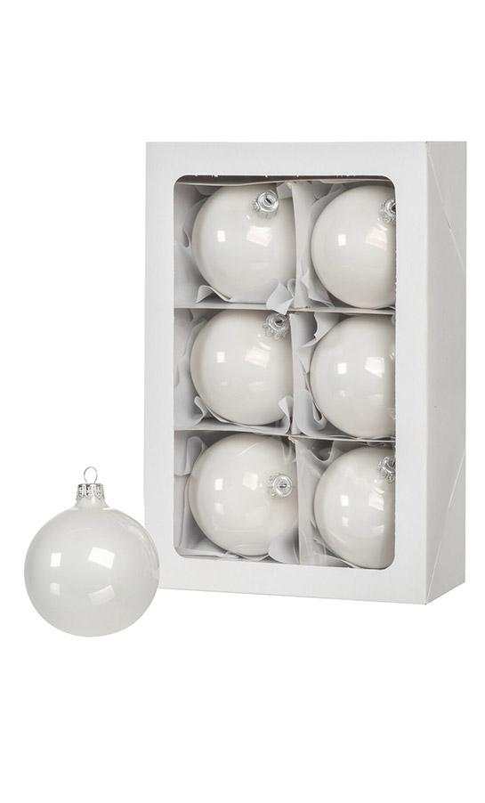 Weiß Christbaumkugeln Kunststoff.6 Weiße Weihnachtskugeln 8cm Künstliche Weihnachtsbäume Und
